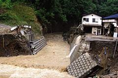 2008年(ねん)集中豪雨(しゅうちゅうごうう) 南砺市(なんとし)